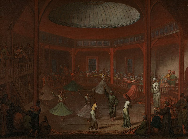 Painting that depicts whirling dervish