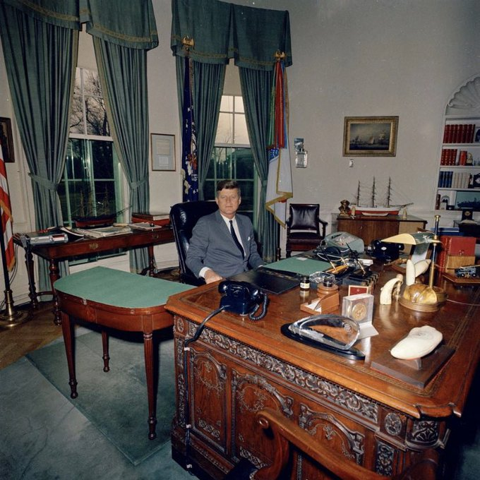 John F.Kennedy at the Office