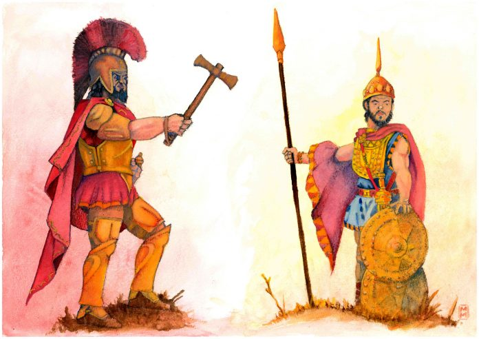 A painting of ancient Romans