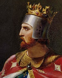 A painting of an English king