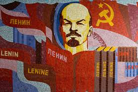 A USSR illustration with Lenin on it