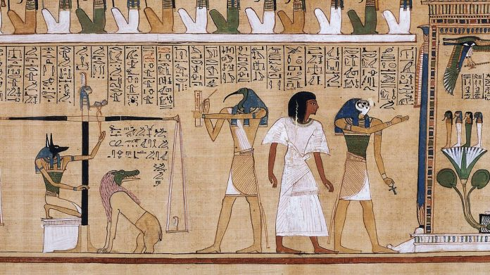 A painting from ancient Egypt