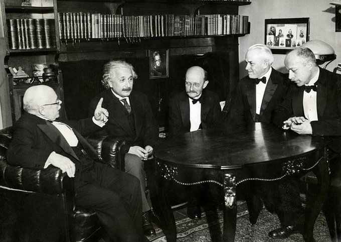 An image Max Planck and other scientists
