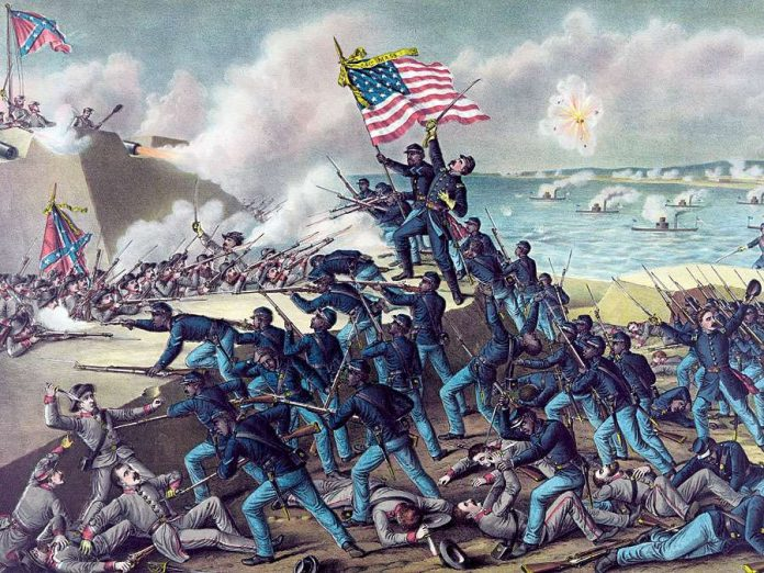 A painting from the American Civil War