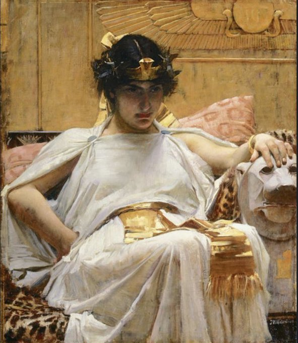 A painting of Cleopatra