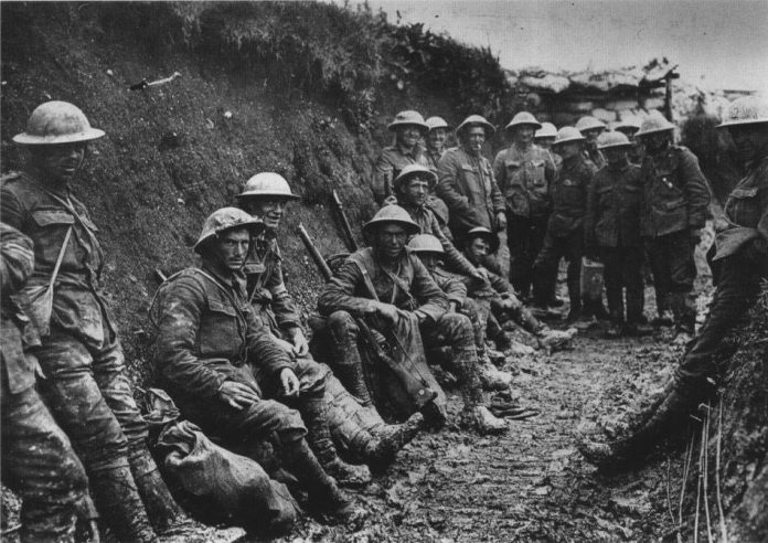 A click of soldiers of World War 1