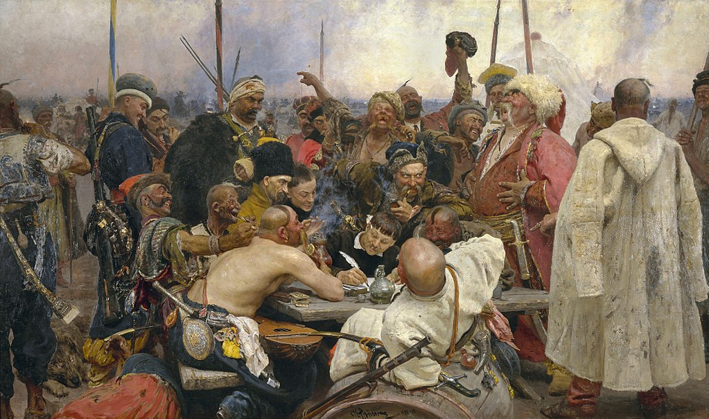 A picture illustrating Cossacks write back to the ottoman sultan