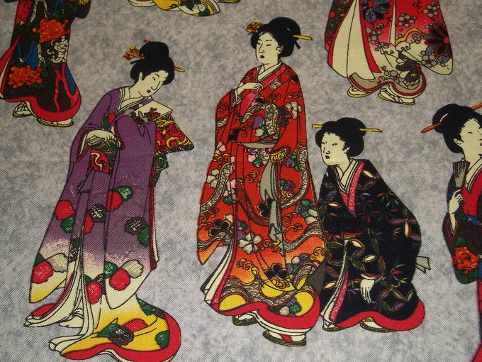 A painting of Japanese women