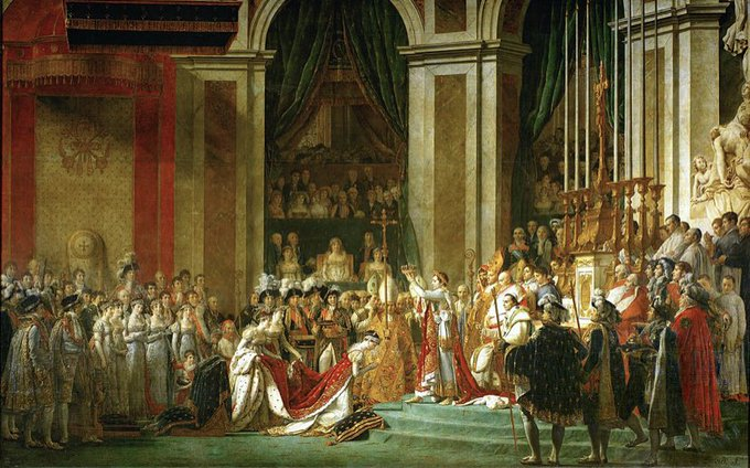 A painting from Napoleon's coronation