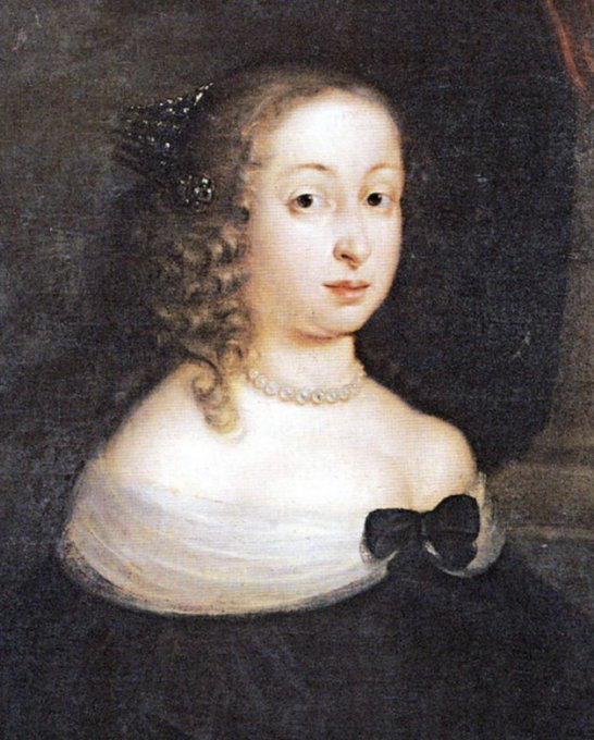 A painting of Dowager Queen Hedvig Eleonora