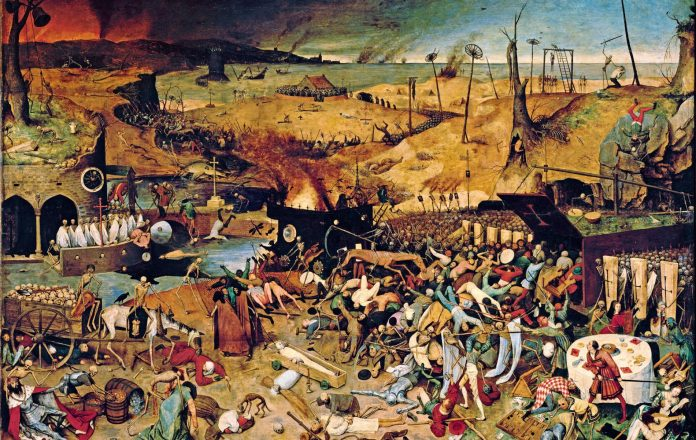 A painting of Black Death